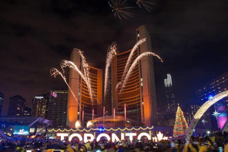 Toronto - New Year celebrations around the world