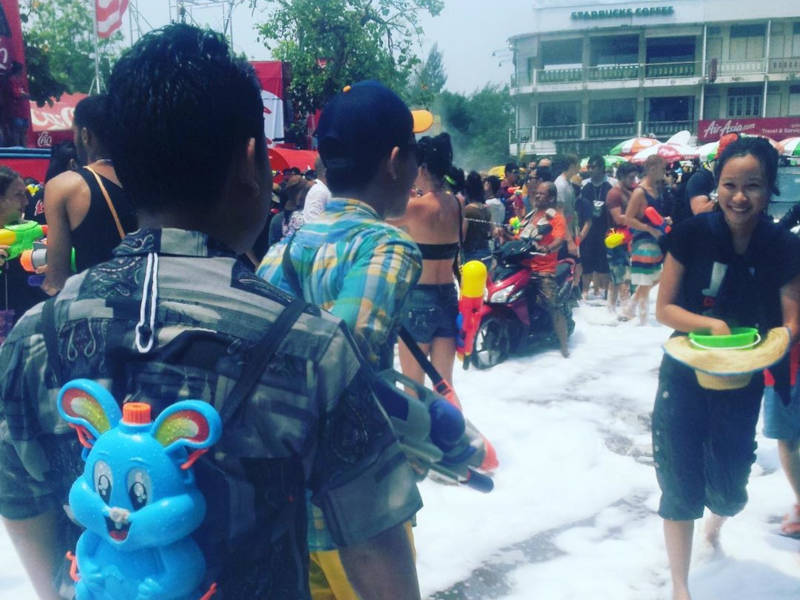 Wet fun at Songkran in Thailand