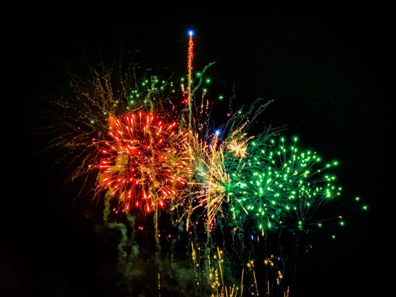 Lagos fireworks - New Year